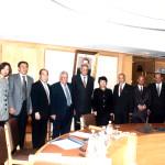توقيع عقد أمسيال و يرى ممثلى الجانب الصيني و د.عاطف دردير و المحافظ لبيب زمزم ١٤ نوفمبر ١٩٩٩