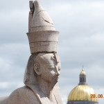 The Head of Ancient Egyptian Statue St. Petersburg