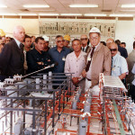 Ras Shukair Control room showing plant model during an official visit