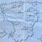 Aegina map paper table cloth