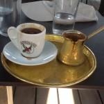 Serving Greek coffee ,only in copper